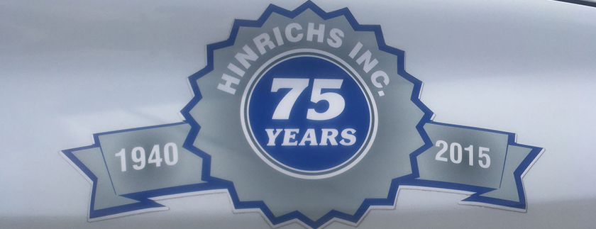 Hinrichs Inc 75 Years
